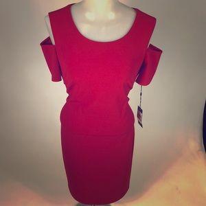 New tommy hilfiger Cold-shoulder Sheath Dress